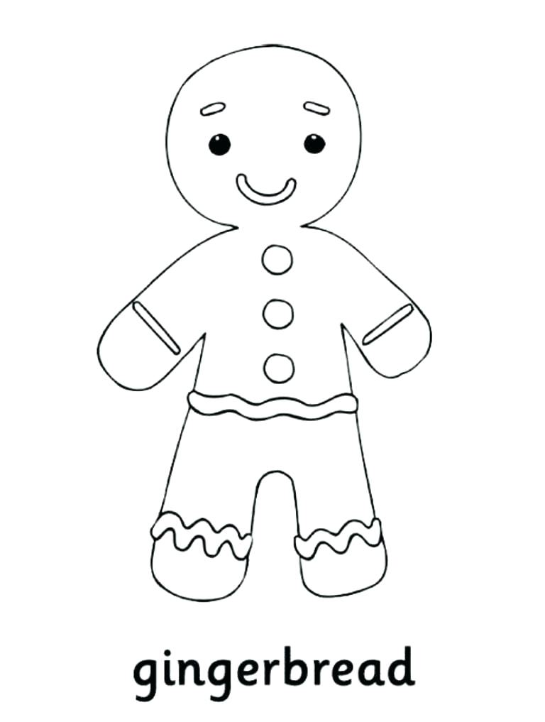 768x1017 Gingerbread Boy Coloring Page Gingerbread Man Coloring Pages Free