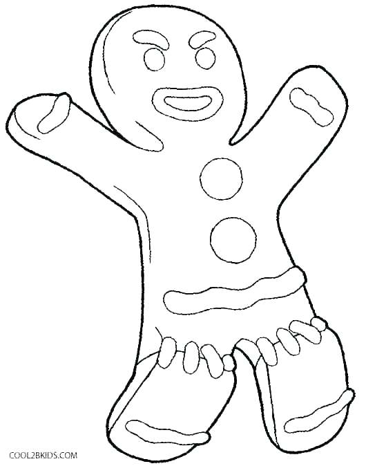 530x674 Gingerbread Man Color Page Gingerbread Man Coloring Pages Online