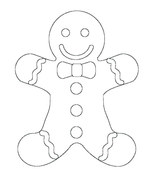 618x733 Gingerbread Man Color Sheet