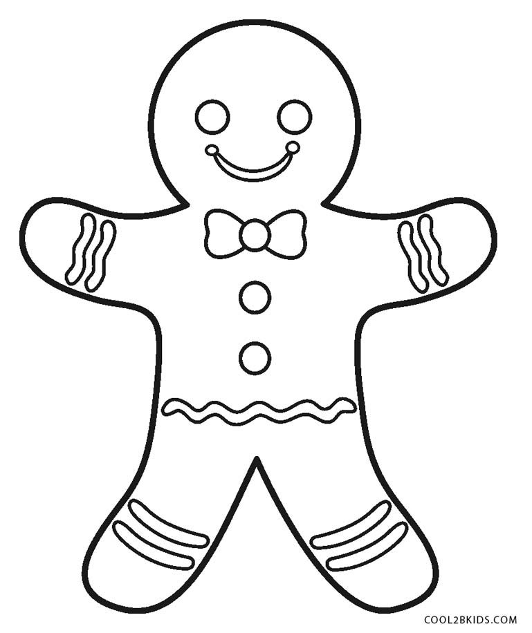 769x916 Free Printable Gingerbread Man Coloring Pages For Kids