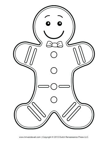 350x453 Gingerbread Man Color Page Gingerbread Man Coloring Page