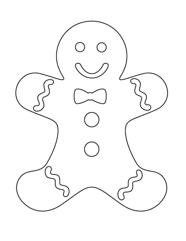640x827 Gingerbread Man Color Page Kids Gingerbread Man Coloring Pages