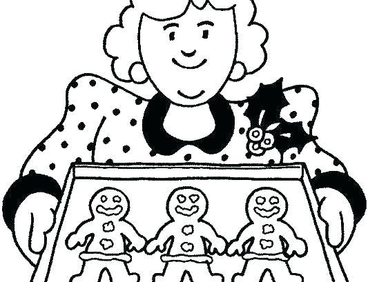 533x409 Gingerbread Man Coloring Sheets S Christmas Gingerbread Man