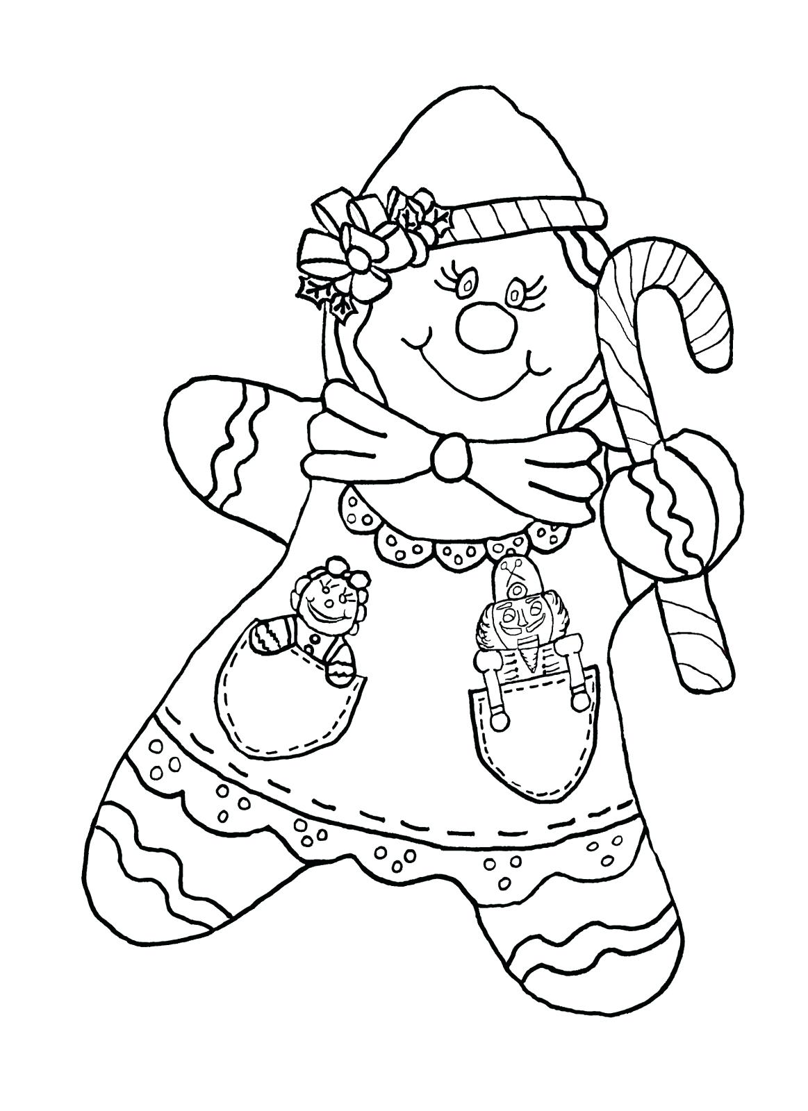 1163x1600 Coloring Pages Gingerbread Man Coloring Page Black White Pages