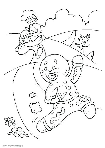 422x597 Coloring Pages Gingerbread Man Gingerbread House Coloring Page