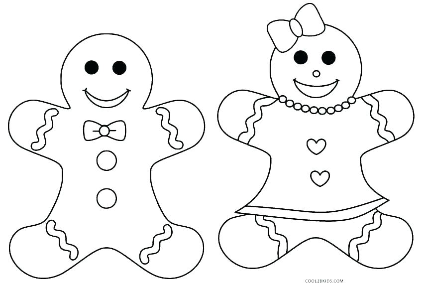 850x584 Gingerbread Man Coloring Pages Story