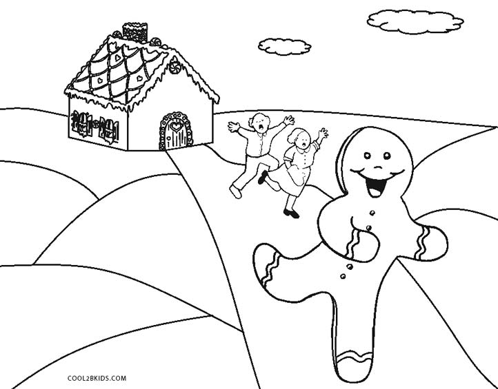 722x565 Free Printable Gingerbread Man Coloring Pages For Kids