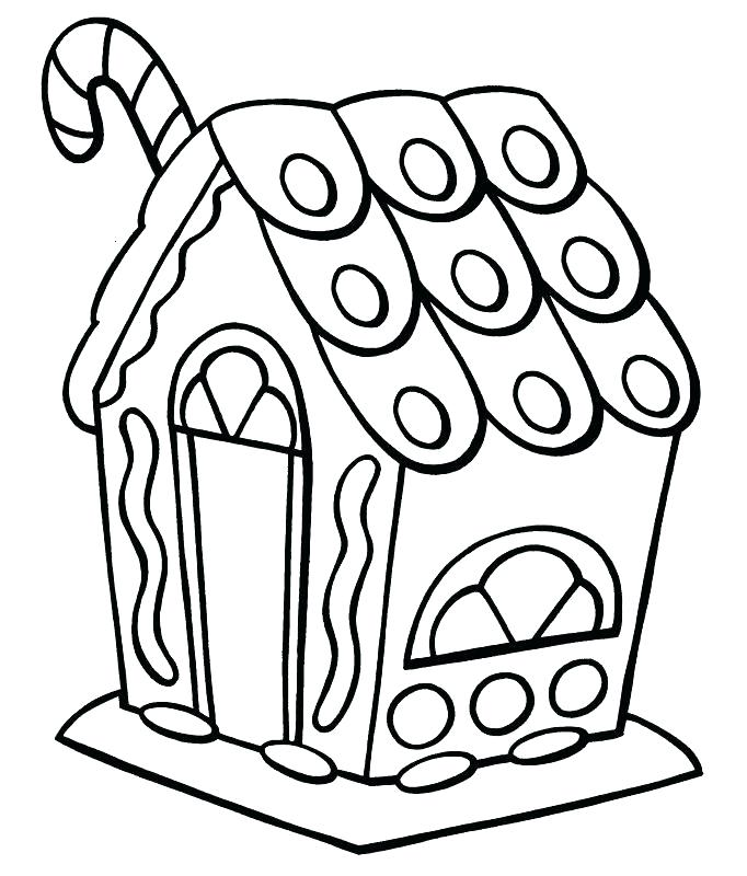 Gingerbread Man House Coloring Pages At Getdrawings Com Free For