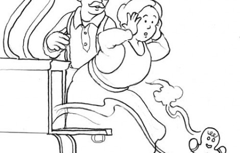 Gingerbread Man Story Coloring Pages