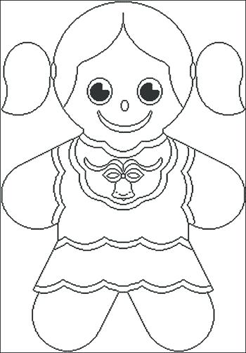 350x502 Gingerbread Girl Coloring Page Girl Gingerbread Man Coloring Pages