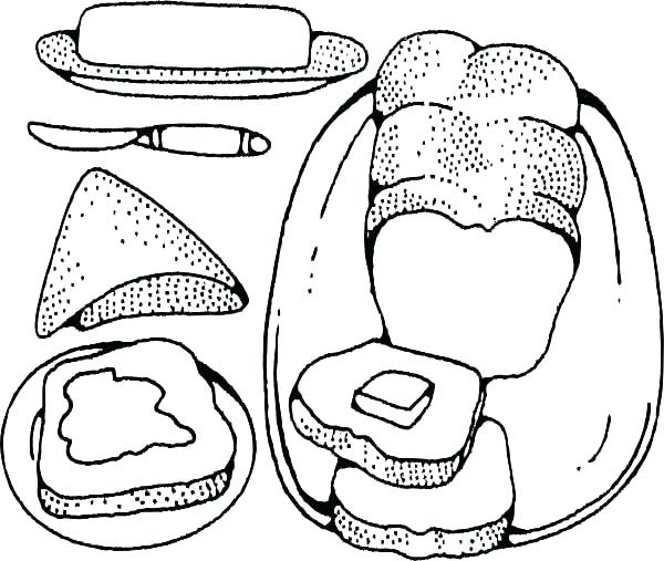 600x507 Bread Coloring Page Bread Coloring Pages Bread How To Draw Bread