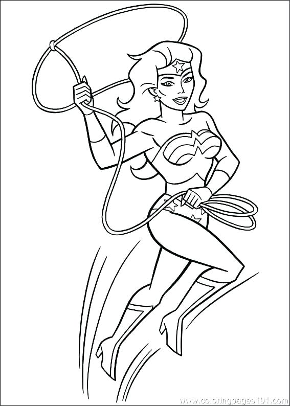 567x794 Woman Coloring Pages Coloring Pages Of Wonder Woman Color Page