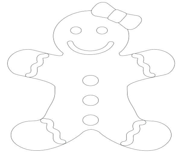 600x522 Gingerbread Boy Coloring Sheet