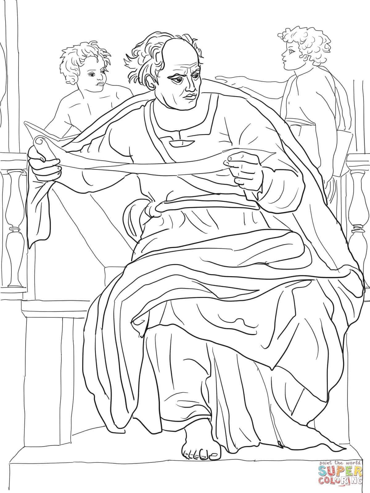 1200x1600 Coloringpages David Michelangelo Sistine Chapel Coloring Page