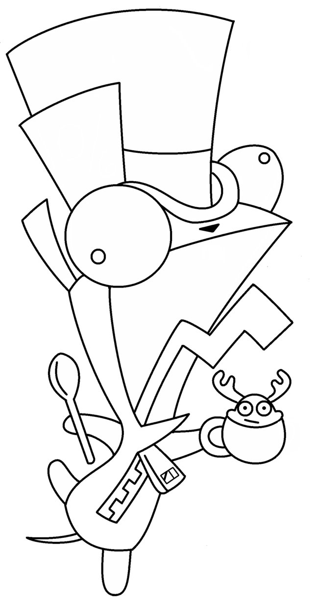 647x1233 Mad Hatter Coloring Pages Party Ripping