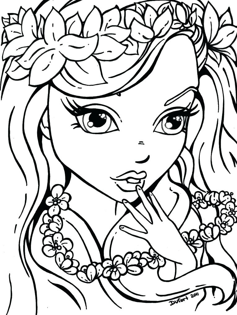 765x1014 Printable Coloring Pages For Girls Free Flowers L Gir Murs