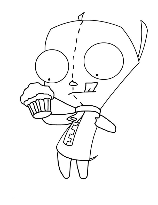 612x792 Gir Coloring Pages From Invader Zim Invader Zim Gir Coloring Pages