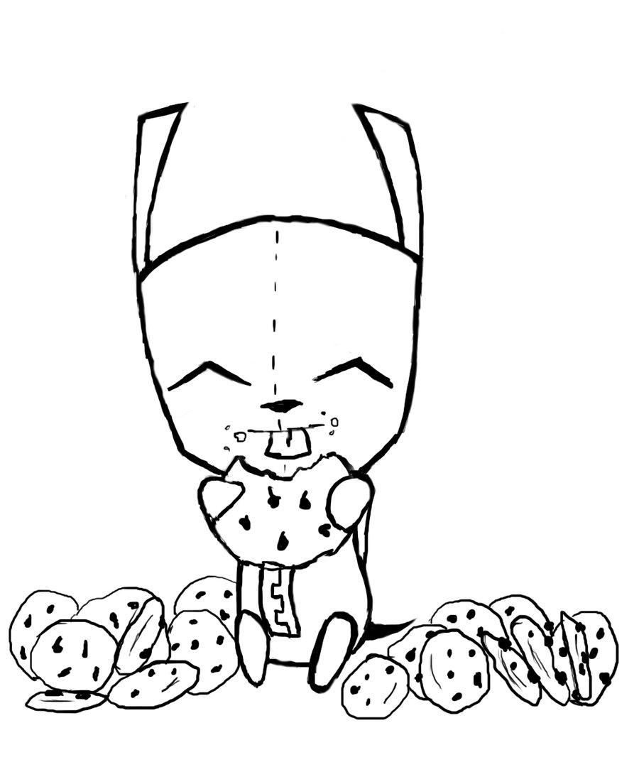 900x1080 Gir And Piggy Coloring Pages Coloring Page