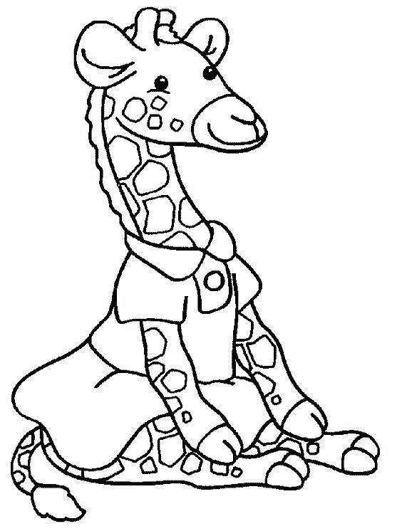557x746 Cute Cartoon Giraffe Coloring Pages Printable For Free Download