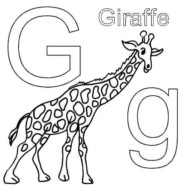 600x600 Cute Giraffe Coloring Pages Cartoon Giraffe Coloring Pages Giraffe