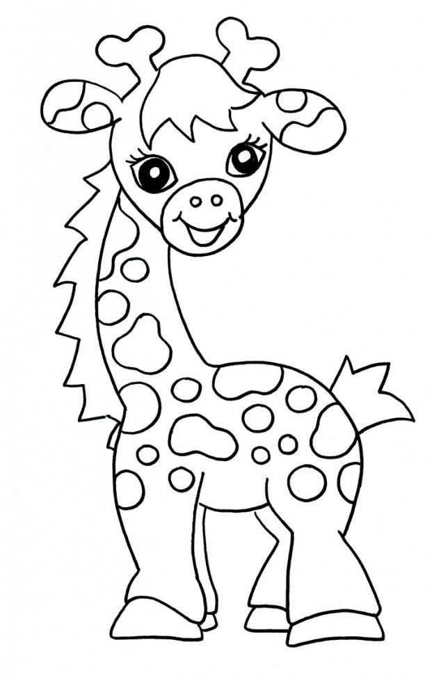 624x982 Free Printable Giraffe Coloring Pages For Kids Giraffe, Coat