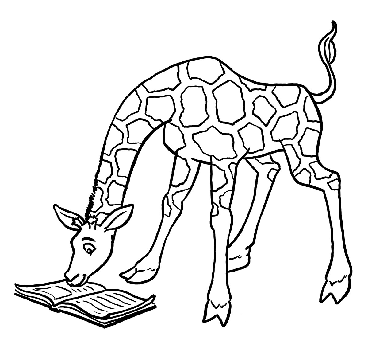 1200x1146 Giraffe Colouring Pages