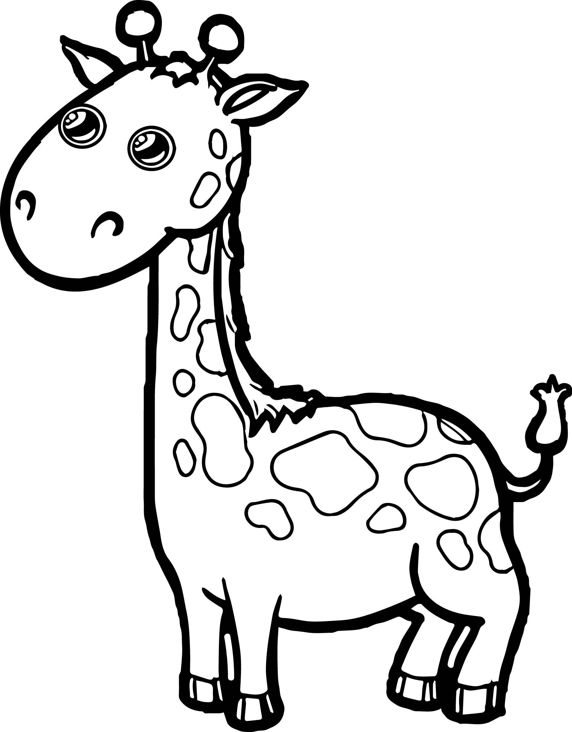 1894x2426 Zoo Giraffe Cartoon Coloring Page Giraffe, Zoos And Cartoon