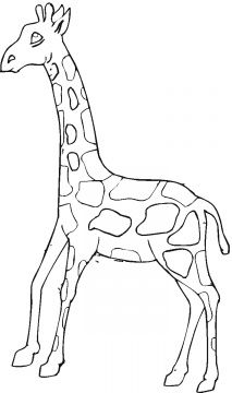 213x360 Free Coloring Book Of Giraffes Cartoon Giraffes Coloring Page