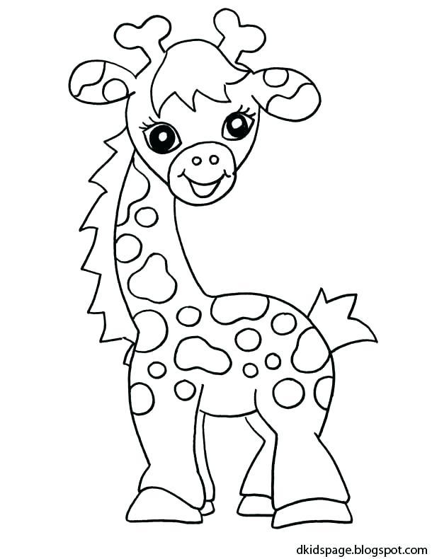 610x790 Giraffe Coloring Page Giraffe Coloring Pages Printable Easy