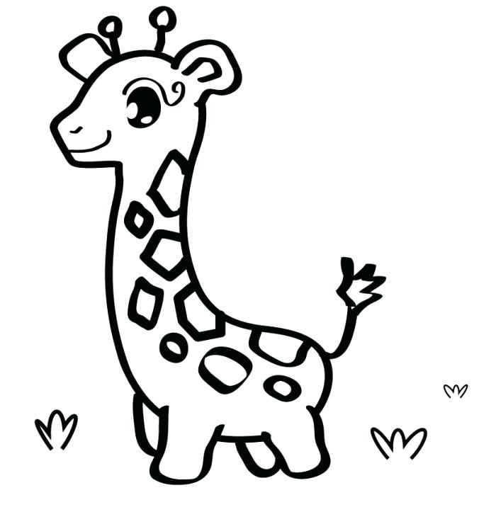 700x723 New Printable Giraffe Coloring Pages For Sweet Inspiration New