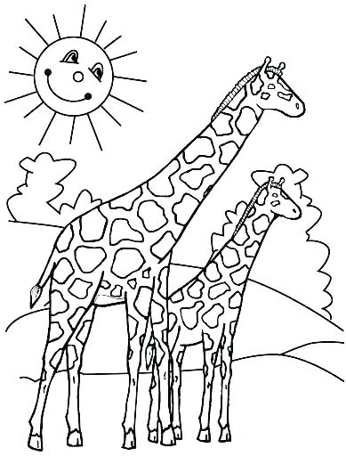 389x512 Giraffe Coloring Pages Printable Giraffe Coloring Pages Giraffe
