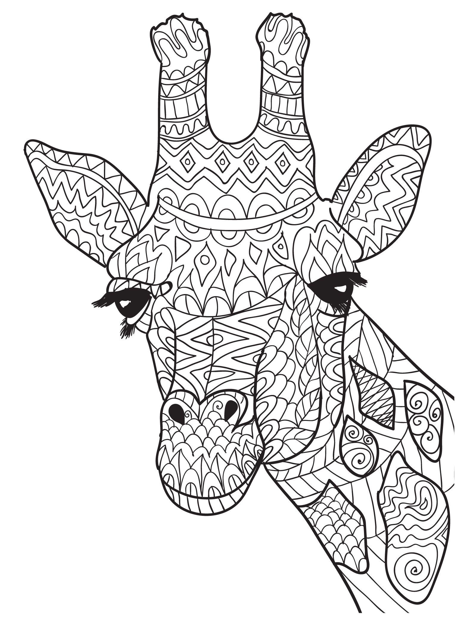 1541x2083 New Giraffe Mandala Coloring Pages