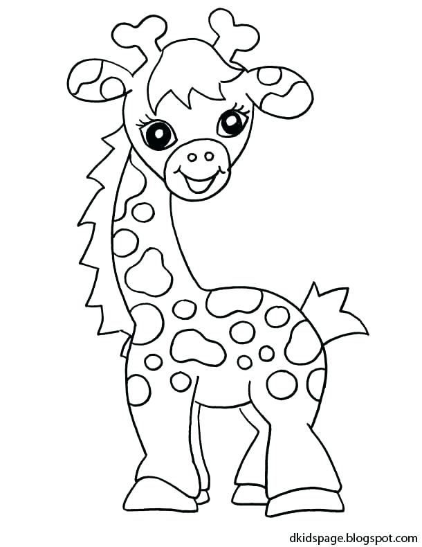 610x790 Coloring Page Giraffe Giraffes Coloring Pages Giraffe Coloring