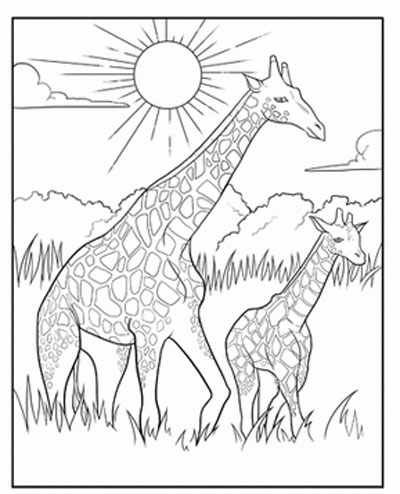 400x494 Printable Giraffe Coloring Pages For Free Download