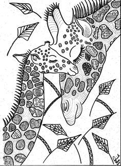 236x324 Giraffe Coloring Page