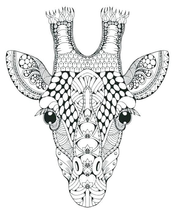 573x700 Giraffe Coloring Pages