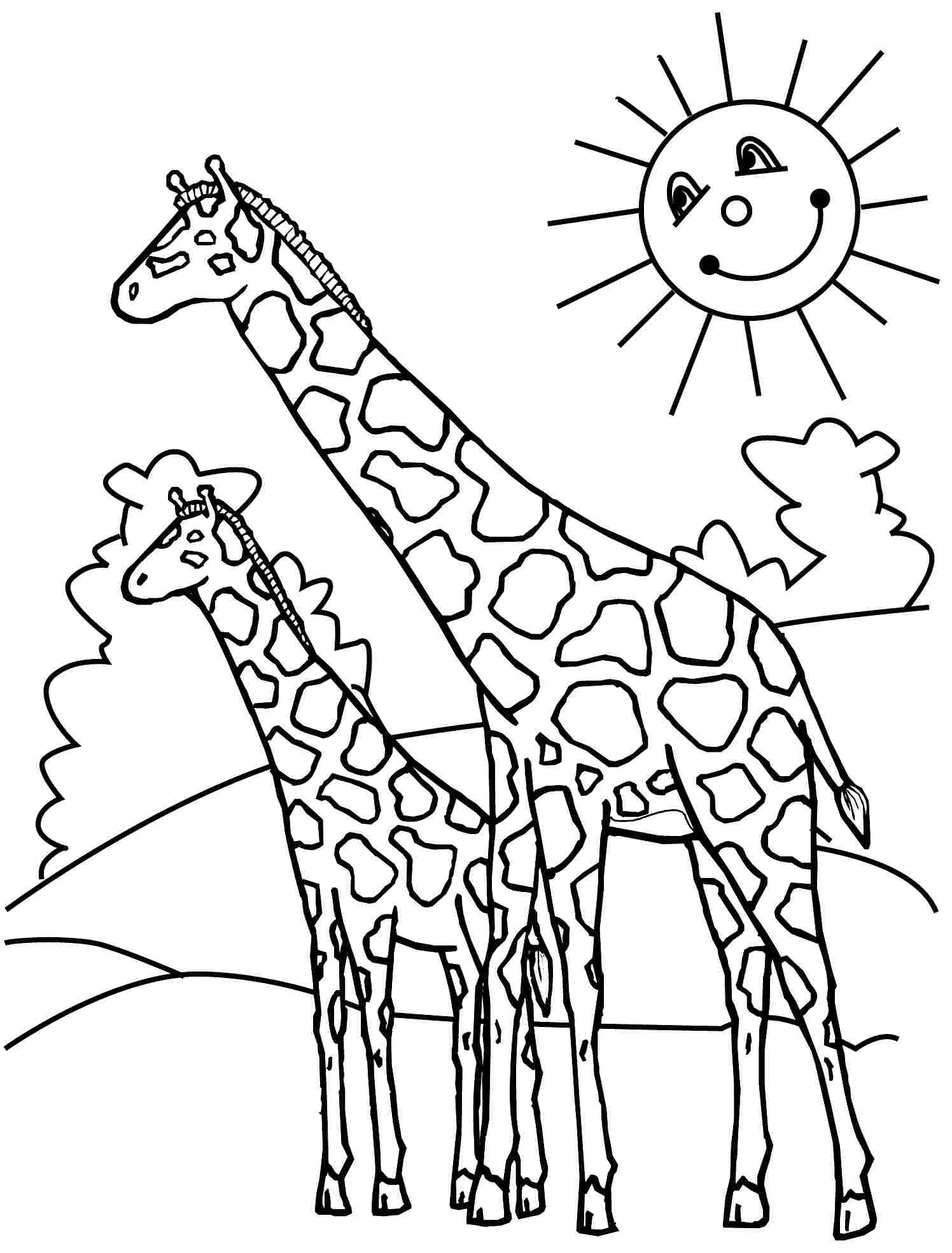 1496x1968 Coloring For Kids Marvelous Baby Giraffe Pages Printable