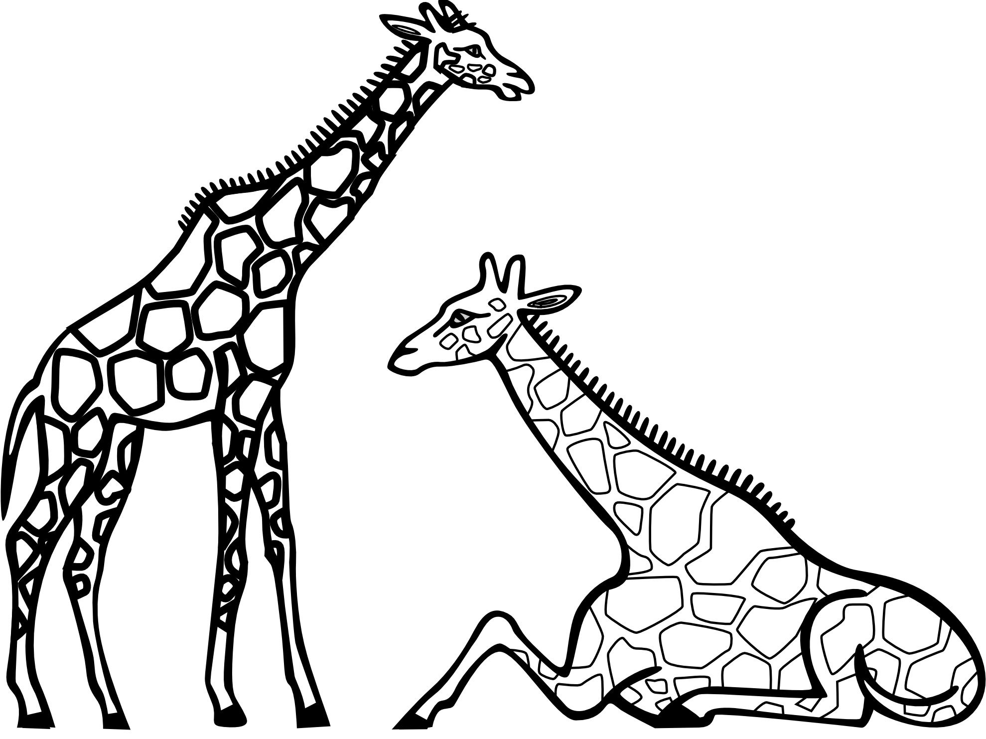 1979x1483 Giraffe Coloring Page Best Of Free Printable Giraffe Coloring