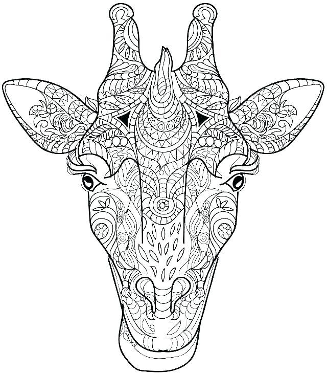 640x731 Giraffe Coloring Page Printable Giraffe Coloring Pages Giraffe