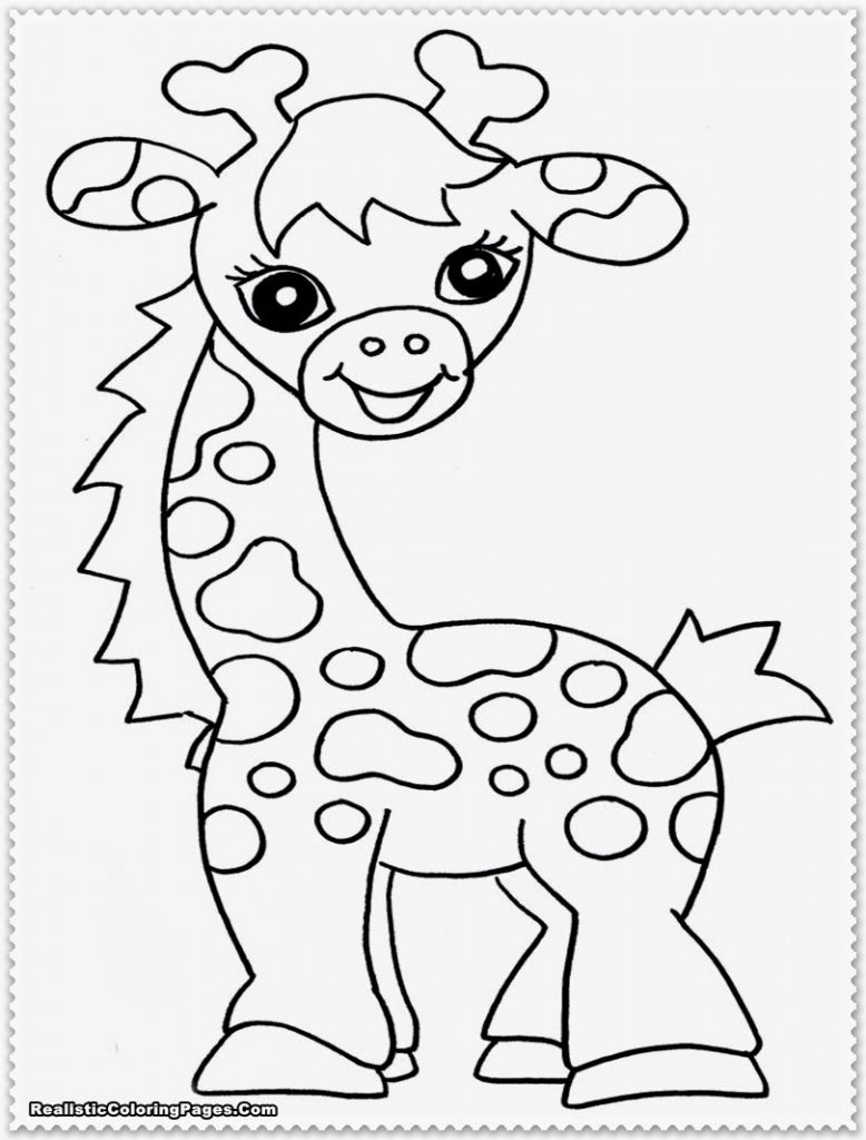 778x1024 Baby Giraffe Colouring Pages Color Printable Coloring Marvelous