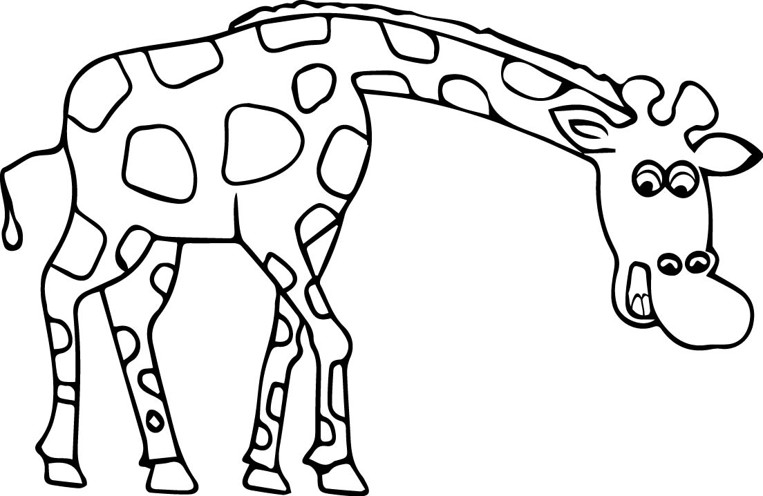 1104x718 Giraffe Coloring Pages