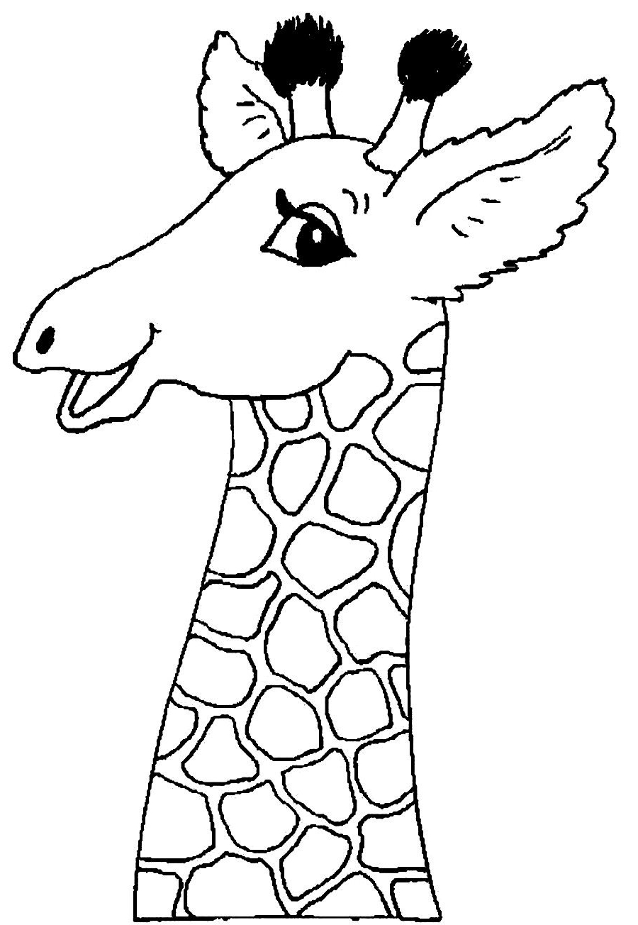 900x1304 Giraffe Face Coloring Page Giraffe Coloring Pages Printable
