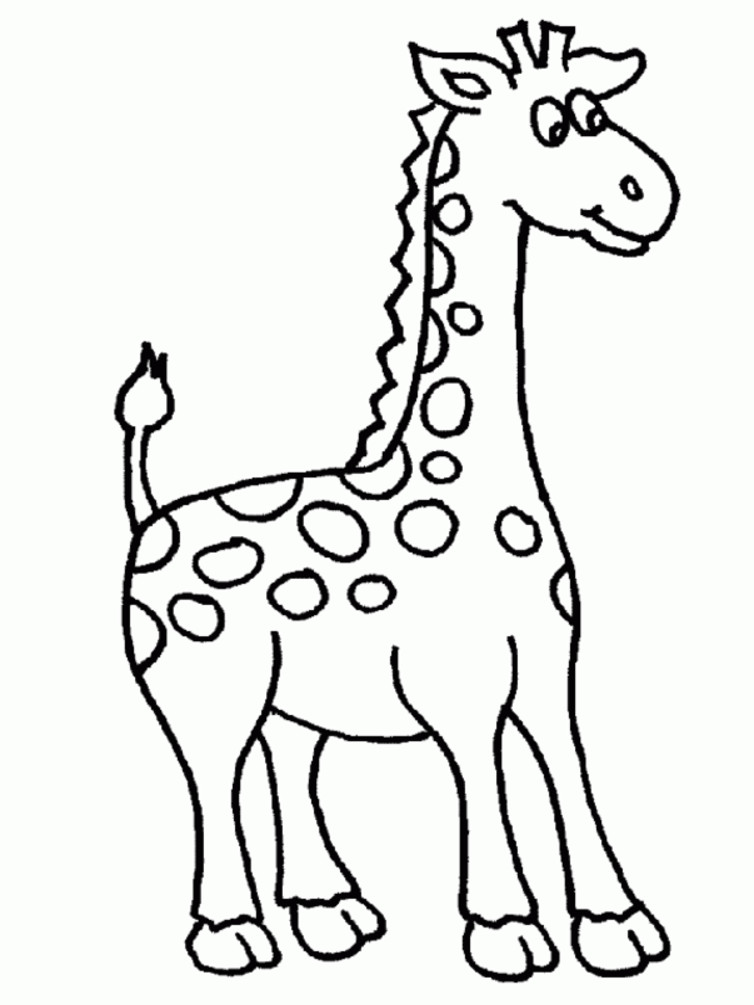 754x1005 Giraffe With Funny Face Coloring Pages For Kids Dcs Printable