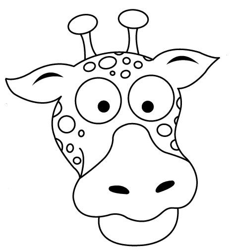 468x506 Giraffe Mask Coloring Pages Coloring Pages