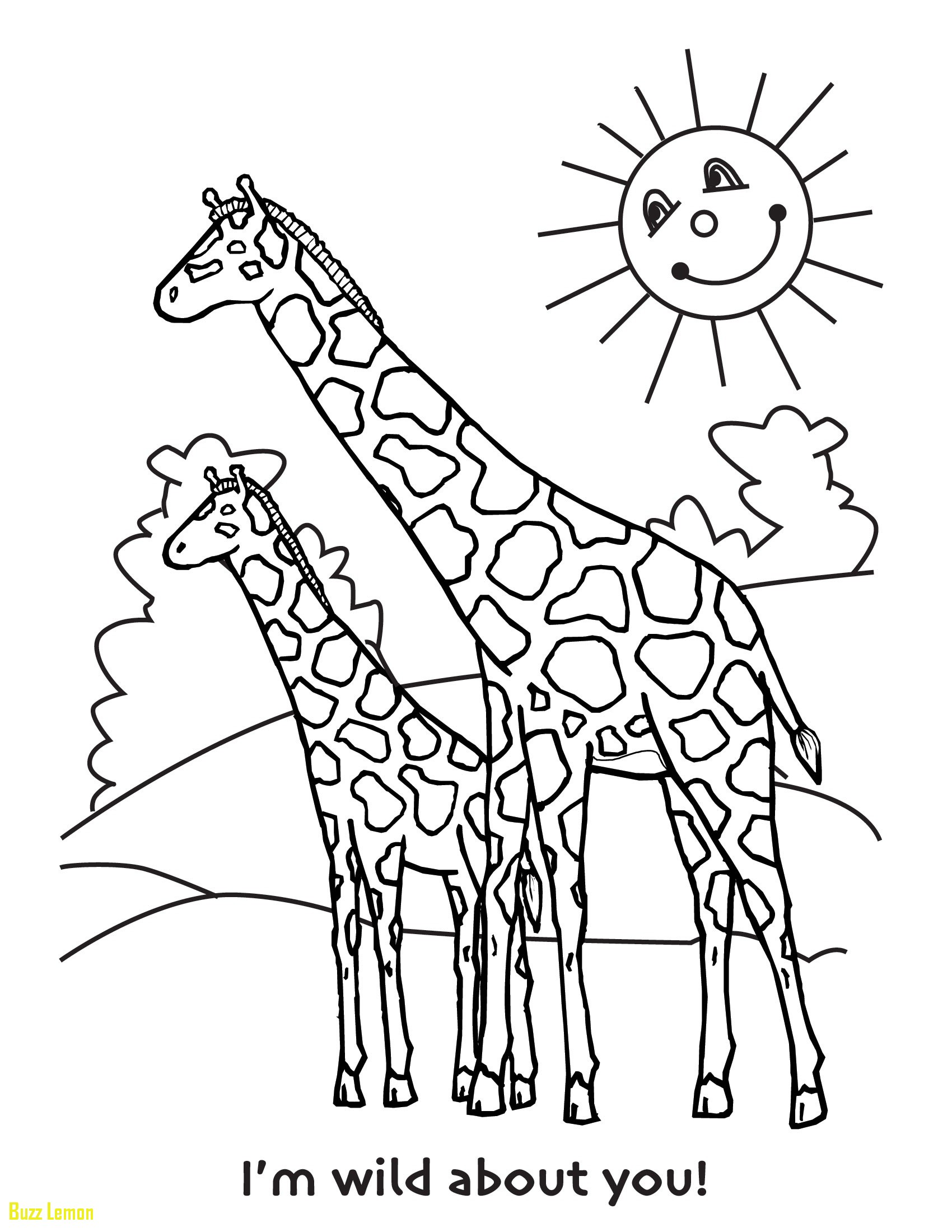 1700x2200 Elegant Giraffe Coloring Pages Buzz Coloring