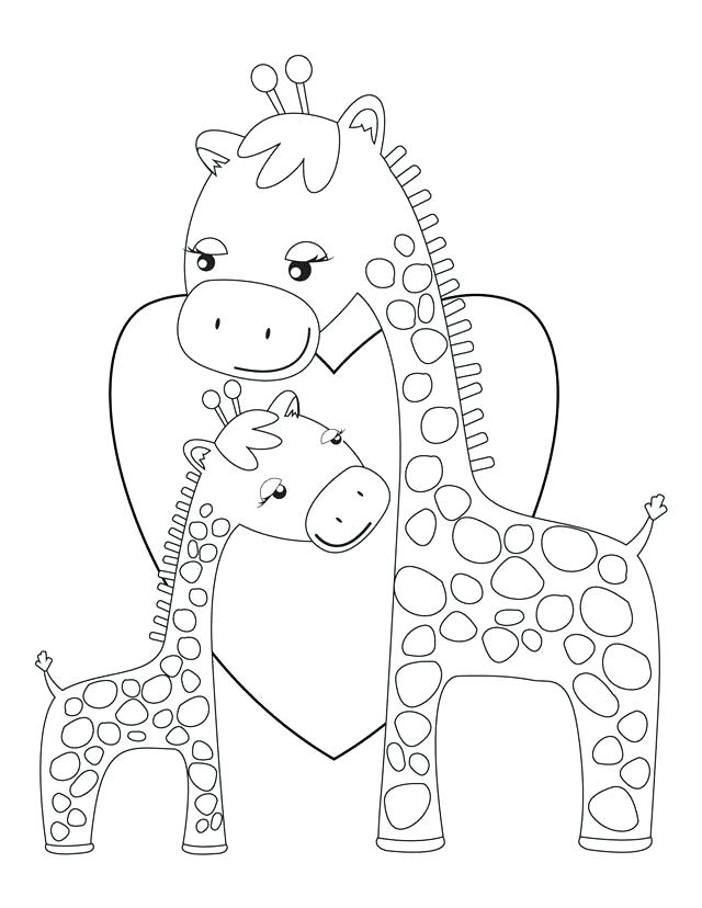 640x828 Giraffe Color Page Critter And Cartoon Coloring Pages Giraffe Head