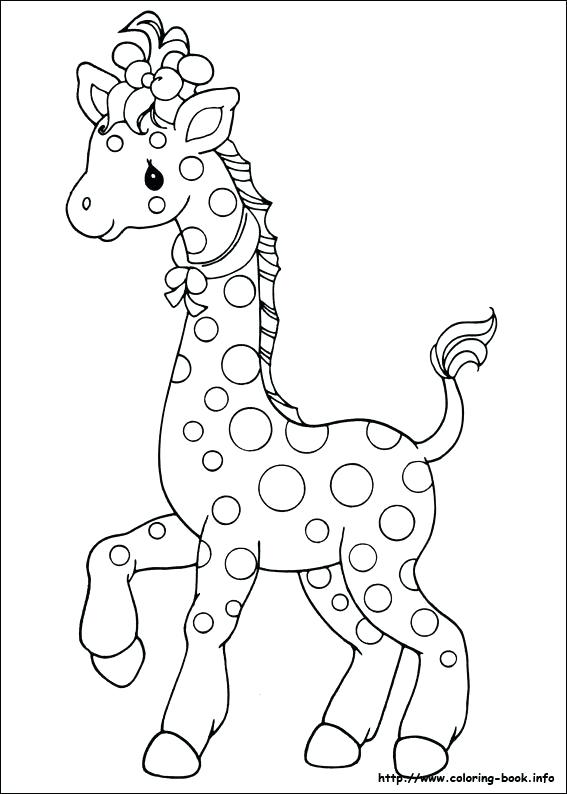 567x794 Coloring Page Of A Giraffe Coloring Families Colouring Pages Also