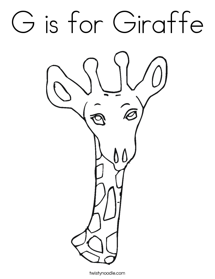 685x886 G Is For Giraffe Coloring Page