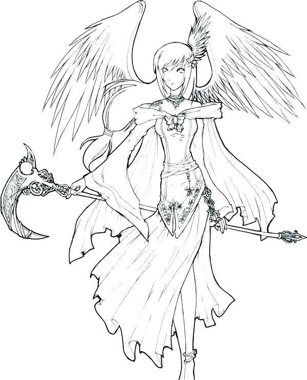 600x744 Anime Angel Coloring Pages Anime Angel Coloring Pages Anime Angel