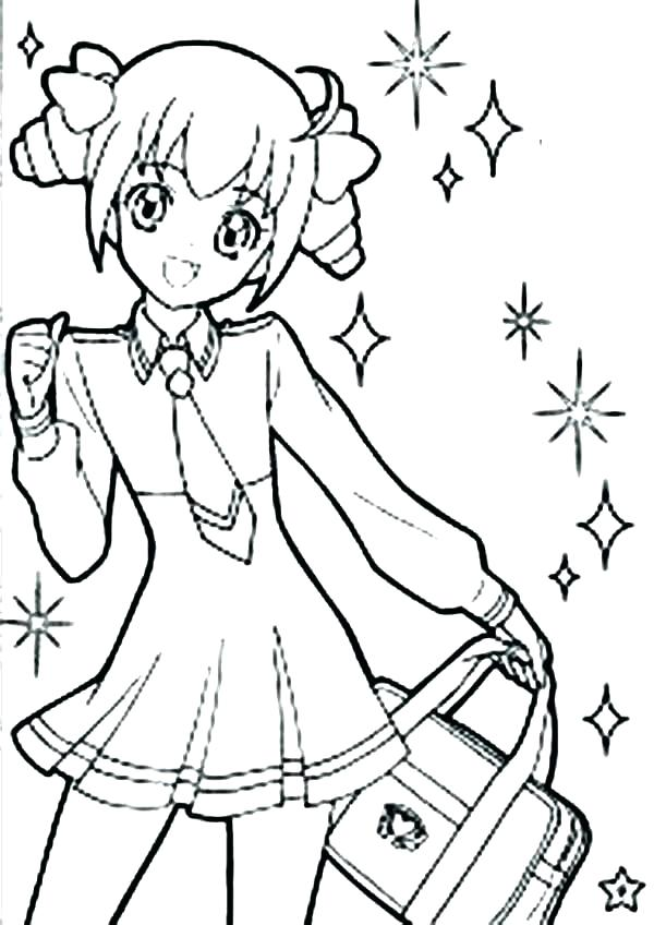 600x848 Girl Coloring Pages Or Cute Coloring Pages Cute Girl Coloring